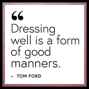 Clothes for the well dressed!